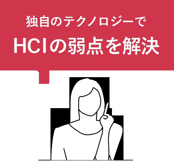 独自のテクノロジーでHCIの弱点を解決